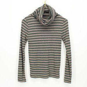 Vintage Colorful Striped Long Sleeve Turtleneck